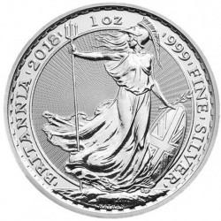 2018 Regno Unito BRITANNIA - 1 OZ Argento/Silver 999 2£