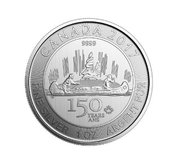 2017 Canada VOYAGEUR - 1 OZ Argento/Silver 999 5$