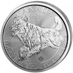2018 Canada Wolf Predators - 1 OZ Argento/Silver 999 1$