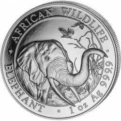 2018 Somalia ELEPHANT - 1 OZ Argento/Silver 999 200S