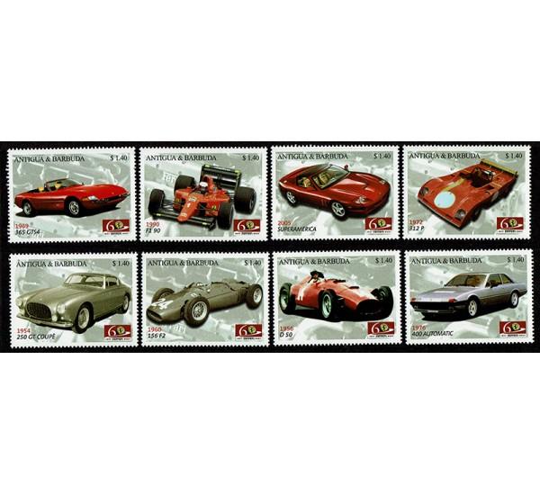 2007 Antigua e Barbuda 60° Ferrari serie MNH/**