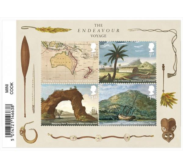 2018 Gran Bretagna 250° Captain Cook foglietto MNH/**