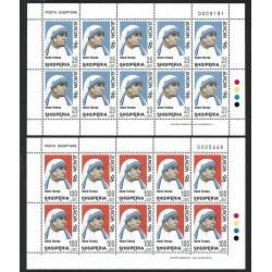 1996 Albania Madre Teresa di Calcutta minifogli