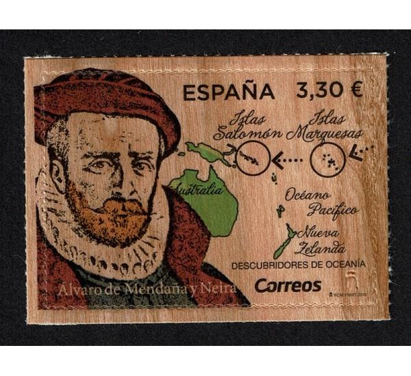 2018 Spagna Esploratori Alvaro de Mendaña Unusual Legno