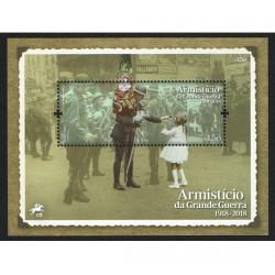 2018 Portogallo Armistizio Prima Guerra Mondiale foglietto MNH