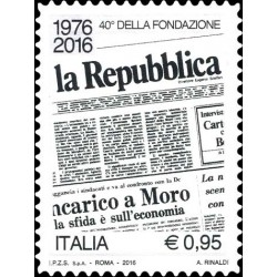 "2016 quotidiano ""la Repubblica"" MNH"