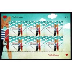 2017 Croazia San Valentino francobollo Cuore minifoglio