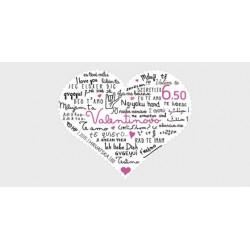 2015 Croazia San Valentino francobollo forma Cuore