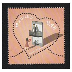 2018 Slovenia San Valentino francobollo cuore