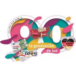 2018 Spagna Generazione anni 90 foglietto unusual