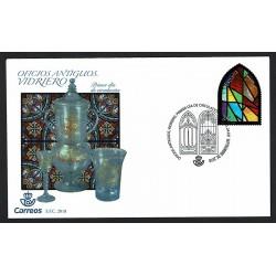 2018 Spagna Unusual stamps plastica vetri colorati FDC