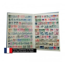 Collezione Francia oltre 2000 francobolli classificatore 32 facciate