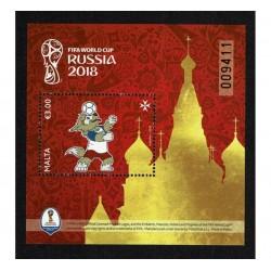 2018 Malta Mondiali di calcio Russia Fifa foglietto