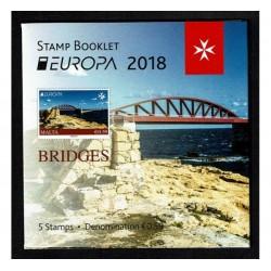 2018 Malta serie Europa i Ponti - Libretto
