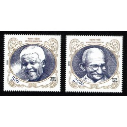 2018 India Congiunta Sud Africa Nelson Mandela e Mahatma Gandhi