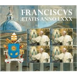 2016 Vaticano genetliaco di Papa Francesco Minifoglio