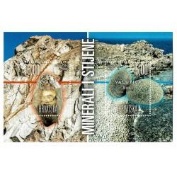 2018 Croazia foglietto tematica Minerali e Rocce