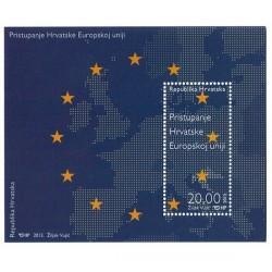 2013 Croazia Ingresso nell'Unione Europea foglietto