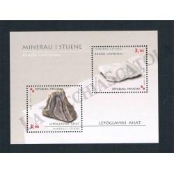 2010 Croazia foglietto tematica Minerali e Rocce