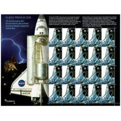 2016 Spagna Space Shuttle Columbia Unusual Minifoglio