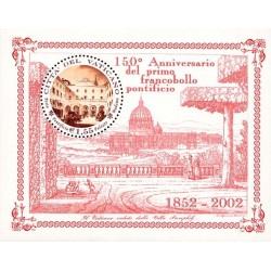 2002 Vaticano primo francobollo pontificio Foglietto