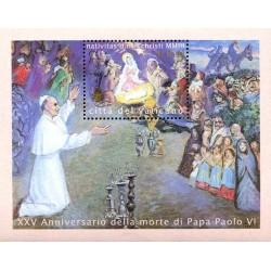 2003 Vaticano emissione per il Natale Foglietto