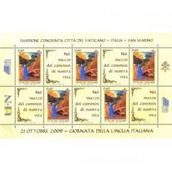 2009 Vaticano giornata della lingua italiana Congiunta (joint Iusse)