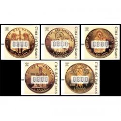 2001 Vaticano Framabolli - francobolli Automatici Monete d'oro