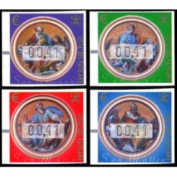 2002 Vaticano Framabolli - francobolli Automatici Evangelisti