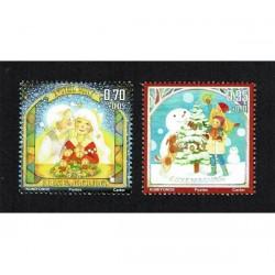 2017 Lussemburgo Natale - francobolli unusual glitterati