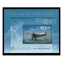 2018 Austria - 100 anni di Posta Aerea - Foglietto