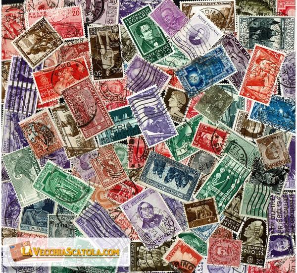 100 Francobolli Regno d'Italia diversi usati