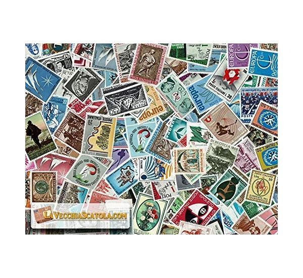 200 Francobolli Repubblica commemorativi tutti diversi