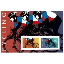 1996 Stati Uniti foglietto dedicato al Ciclismo