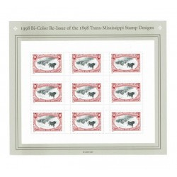 1998 Stati Uniti Trans-Mississippi centenario minifoglio