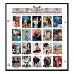 2001 Stati Uniti Illustratori Americani minifoglio