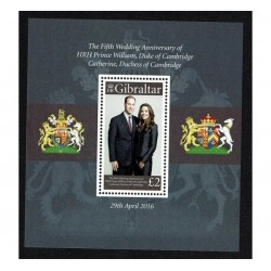 2016 Gibilterra anniversario royal wedding William e Catherine