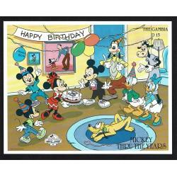 1989 Gambia Disney Mickey Mouse 60° anniversario