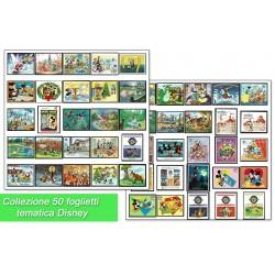 Collezione tematica Disney 50 foglietti differenti - Mickey Mouse