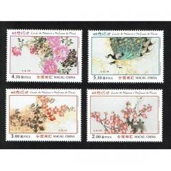 2018 Macao uccelli e i fiori primaverili - serie