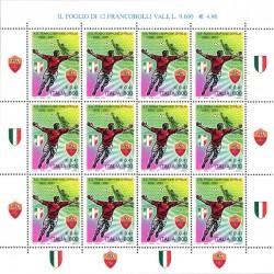 2001 Francobolli Scudetto Roma campionato di calcio SerieA 2000/01