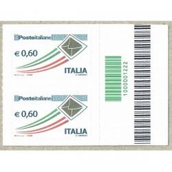 2010 Posta Italiana letterina d'oro 0,60€ Codice a Barre