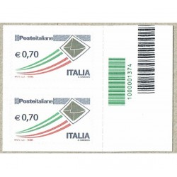 2013 Posta Italiana letterina d'oro 0,70€ Codice a Barre
