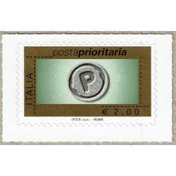 2008 Posta Prioritaria 2€ sena millesimo Sas.2932E