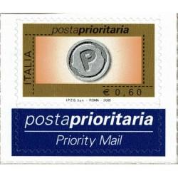 2005 Posta Prioritaria 0,60€ rotocalco nuovo