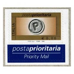 2005 Posta Prioritaria 0,80€ rotocalco nuovo