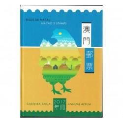 2017 Macao Libro annata serie + foglietti
