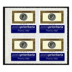 2001 Posta Prioritaria 0,62 stampa tipografica Quartina