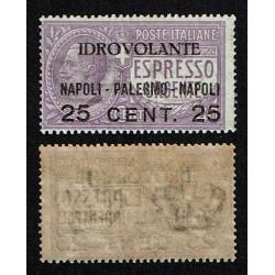1917 P.A. Idrovolante Napoli Palermo MNH/**
