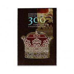 2019 Liechtenstein 300° anniversario - Corona ricamata unusual stamps